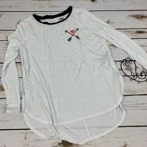 Old Navy Shirt Girls White Size Large 10/12